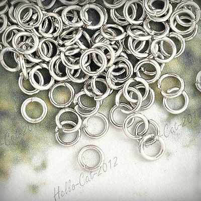 30G About 450Pcs Wholesale Fashion  Iron Round Nickel Plated Open Jump Rings 5X5
