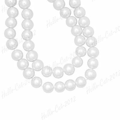 200PCS GLASS PEARL WHITE BEADS 4MM FIT BRACELECT NECKLACE DIY lOTS HCGP0001-1