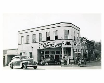 1941 Pure Oil Gas Station Photo Manning SC Gas Globe Coca Cola ch2647