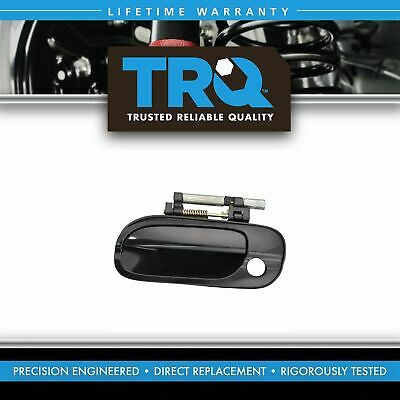 Door Handle with Keyhole Smooth Black Front Outer Right RH RF for 00-06 Sentra