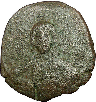 JESUS CHRIST Class A2 Anonymous Ancient 1028AD Byzantine Follis Coin  i34668