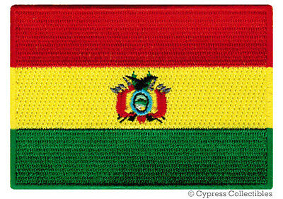 BOLIVIA FLAG embroidered iron-on PATCH BOLIVIAN SOUTH AMERICAN EMBLEM applique
