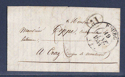 timbre France marque postale   Bourg   1844