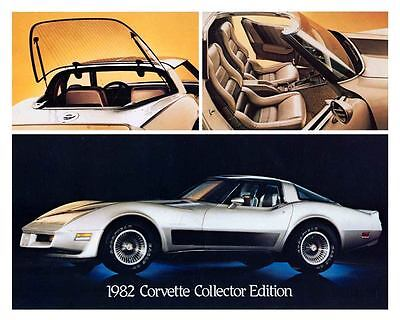 1982 Chevrolet Corvette Collector Edition Automobile Photo Poster zu6577-UBUK5B