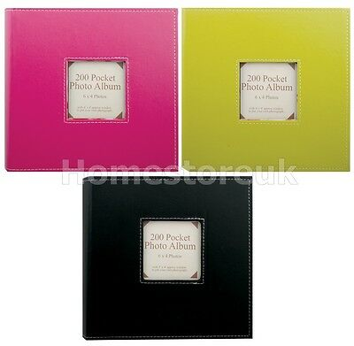 "200 6X4"" Pocket Vibrant Photo Album Slip In Picture Storage For Wedding Birthday"
