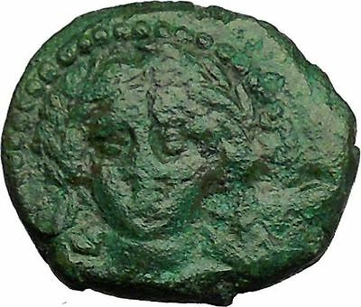 Greek City of Abydos in Troas 300BC Artemis Lyre Ancient Greek Coin i34326