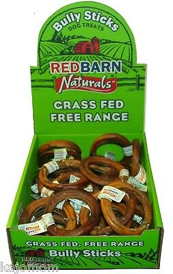 35 Count RedBarn BULLY RINGS Dog Chews & Treats Sticks Grass Fed Cattle NATURAL