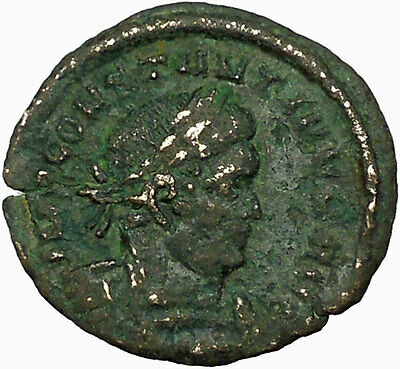 Constantine I The Great  313AD Ancient Roman Coin  SOL INVICT Sun God  i34822