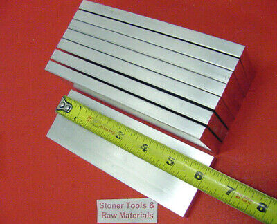 "8 Pieces 1/2""x 2"" ALUMINUM FLAT BAR 6"" long 6061 .50"" Solid Plate Mill Stock"
