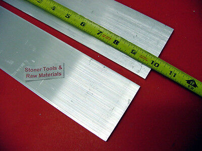 "2 Pieces 1/4"" X 3"" ALUMINUM 6061 FLAT BAR 10"" long .25"" T6511 Plate Mill Stock"
