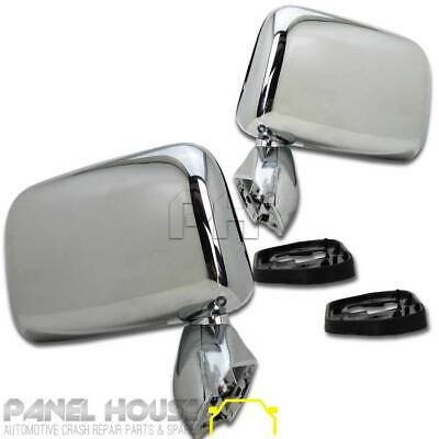 Toyota Hilux 88 - 97 Pair 1xLH 1xRH Chrome Door Mirrors Brand New