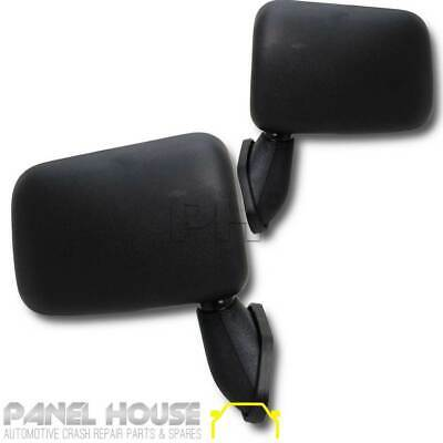 Door Mirrors PAIR Black Skin Mount Fits Toyota Hilux 1988-1997 2WD 4WD