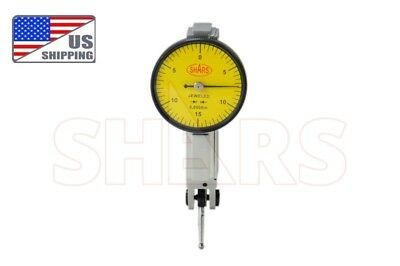 "Shars Precision Yellow .030"" Test Indicator . 0005"" GR. Dial Reading 0-15-0 New"