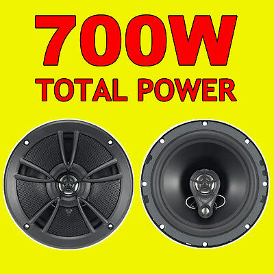 BOSS 700W TOTAL 3WAY 6.5 INCH 16.5cm CAR DOOR/SHELF COAXIAL SPEAKERS PAIR