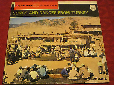 LP SONGS AND DANCES FROM TURKEY song and sound the world around PHILIPS