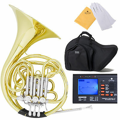 MENDINI MFH-30L INTERMEDIATE BAND Bb/F DOUBLE FRENCH HORN w/ TUNER