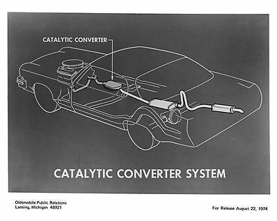 1975 Oldsmobile Catalytic Converter Factory Photo m0829-19IS4A