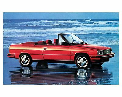1984 Renault Alliance Convertible Factory Photo m1009-PTVDAH