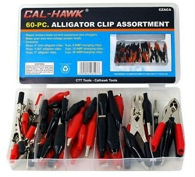 60 pc. Alligator Clip Test Lead Set Electrical Mini  Charging Connector Clips