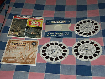 View-Master GAF A 376 Carlsbad Caverns Tour One Sleeve Reels Booklet