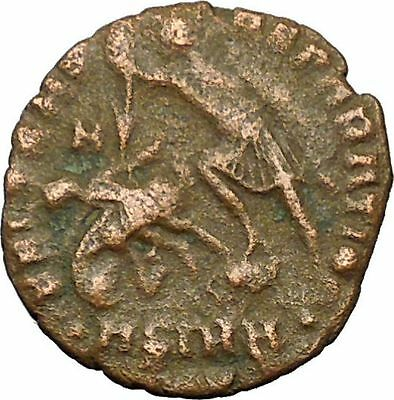 CONSTANTIUS II Constantine the Great  son  Roman Coin Battle Horse man  i35055