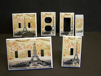 Eiffel Tower Vintage Design #1  Light Switch Cover Plate Or Outlet