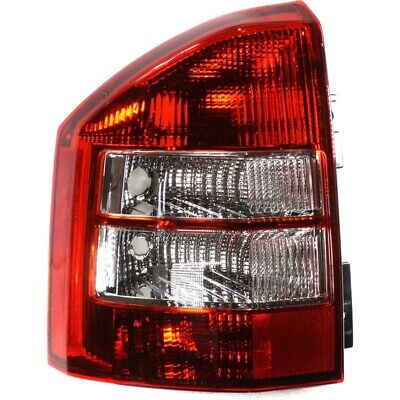 Halogen Tail Light For 2007-2010 Jeep Compass Left Clear & Red Lens