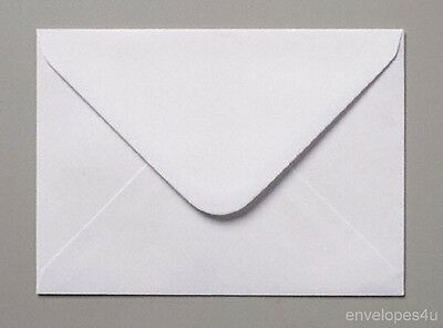 Qty 100 White C7 Diamond Flap Envelopes - Wedding