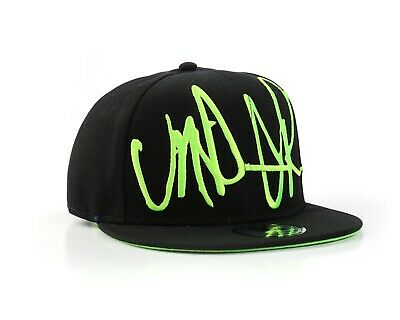 Underground Kulture Troublesome Black & Green Flat Peak Fitted Baseball Cap