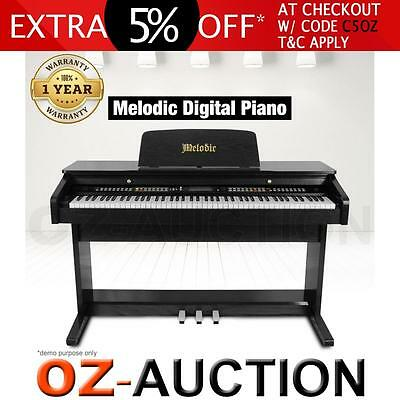 MELODIC 100 Rhythms 88 Standard Touch Response Keys 3 Pedals Digital Piano Black