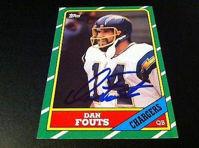 Dan Fouts Chargers HOF 1986 Topps Signed Auto Card