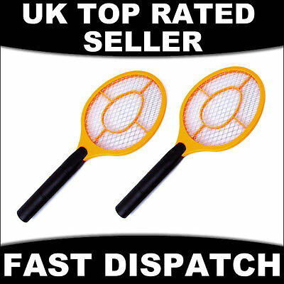 2 X Electric Electronic Fly Insect Swat Swatter Bug Mosquito Wasp Zapper Killer