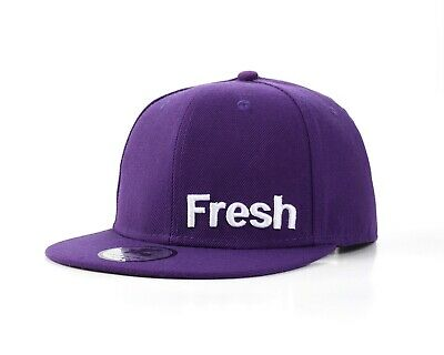 Underground Kulture Fresh Purple Flat Peak Fitted Hip Hop Baseball Cap