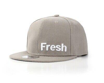 "Underground Kulture ""Fresh - We Run The UK"" Grey Flat Peak Fitted Baseball Cap"