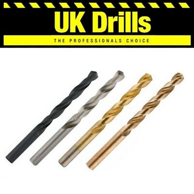 10 x HSS,TITANIUM (TIN),GROUND,COBALT- QUALITY JOBBER DRILL BITS - LOWEST PRICE