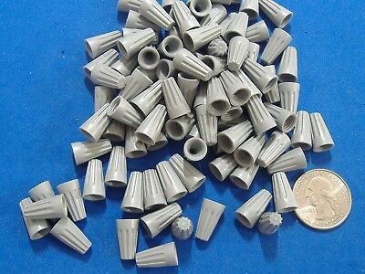 100 Gardner Bender Small Gray Wire Gard Connector Usa  Twist Conical Nut Nuts
