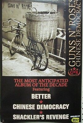 GUNS N' ROSES 2008 chinese democracy 2 sided promo poster ~MINT condition~!