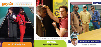 PSYCH Seasons 1-4 Trading Cards ~ MINI-MASTER SET (Base + Inserts)
