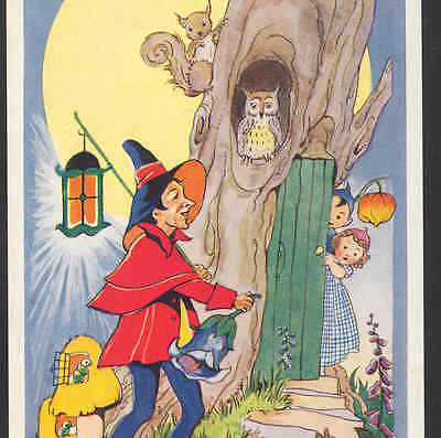 """Mint..! Fairies """"town Crier""""  """"all's Well!"""" On Rounds,owl,moon,steele,postcard"""