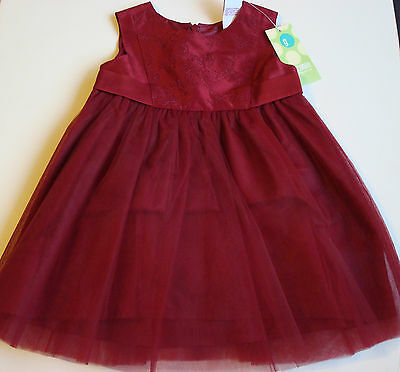 2dbbe64ba4 NWT Gymboree Baby Girl VICTORIAN CHARM Holiday Red Rose SILK/TULLE DRESS 3-6