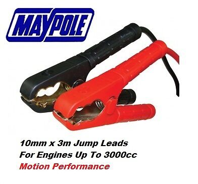 Maypole Motorist Range Car Battery Booster Cable 10mm x 3m >3000cc 350A #351