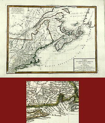 Antique Map-North America-Canada-Tardieu-1782