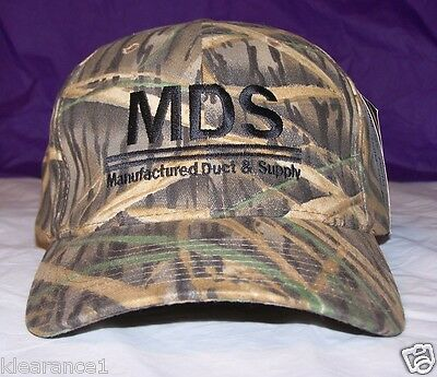 Mossy Oak Baseball Hat Manufactured Duct & Supply New Emboidered Perma curve bil