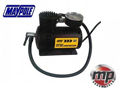 Maypole 12V 0-30 PSI Air Compressor Tyre Inflator Low Power Consumption #MP7942