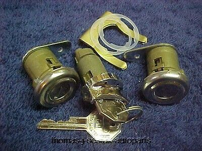 New Door & Ignition Locks With Keys Chevrolet Chevy 55 56 57 58 !
