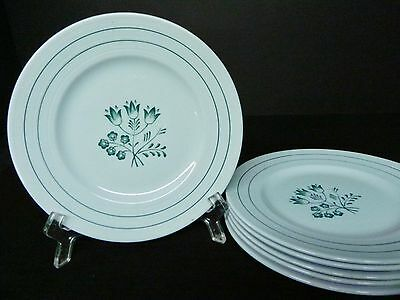 BOOTHS CANTERBURY BLUE SET OF 6 BREAD PLATES