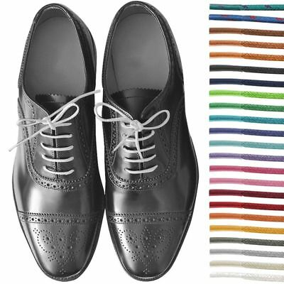 New Round Wax Cotton Thin Shoe Laces 2.5mm Waxed For Leather Oxford Brogues