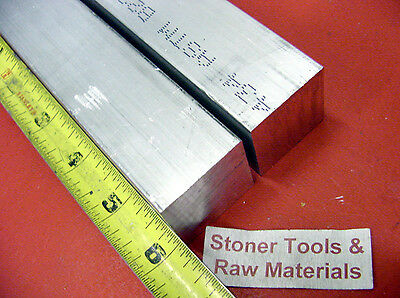 """2 pieces 1-1/2""""x 1-1/2"""" SQUARE ALUMINUM 6061 SOLID BAR 6"""" long 1.50"""" Mill Stock"""