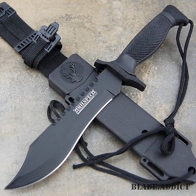 "12"" TACTICAL SURVIVAL Rambo Hunting FIXED BLADE KNIFE Army Bowie w/ SHEATH NEW"