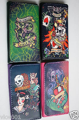 HIGH QUALITY TOBACCO POUCH 4 SKULL DESIGNS